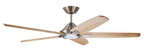 "Emerson CF515NA60BS 60"" Dorian Eco Ceiling Fan, Brushed Steel"