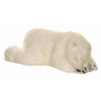 Amazon Com Hansa Sleeping Polar Cub Plush Large Toys Games