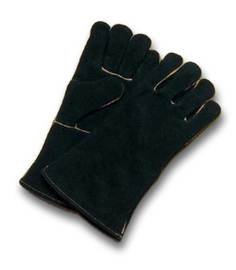 Radnor Glove Welders Large Black 14'' Select Shoulder Split Cowhide Cotton Sock Lined With Wing Thumb, Welted Fingers And Kevlar(R) Stitching (Carded) -1 Case of 48 Pair