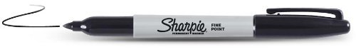 Sharpie Fine Point Permanent Markers, 24 Markers (2 X Box's of 12), Black (30001) (2 Pack, black) ()