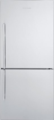 Blomberg BRFB1822SS 17.8 cu. ft. Bottom-Freezer Refrigerator with 3 Glass Shelves, Blue Light Crisper Drawer, Frost Free, Antibacterial Interior, Electronic Controls and Energy Star Certified: Stainless Steel, Right Hinge, with Ice Maker
