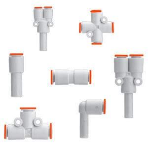 SMC KQ2K06-02A fitting, 45 deg male elbow Pack of 10- Pack of 2