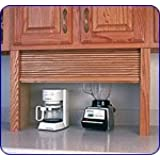 Omega National 30 inch W Omega Series Fronts/Components Straight Unit Appliance Garage, Cherry