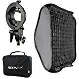 Bowens Mount Softbox with Grid and S-Type Flash Bracket for Nikon SB-600, SB-800, SB-900, SB-910, Canon 380EX, 430EX II, 550EX, 580EX II, 600EX-RT, Neewer TT560 Flash Speedlite ()