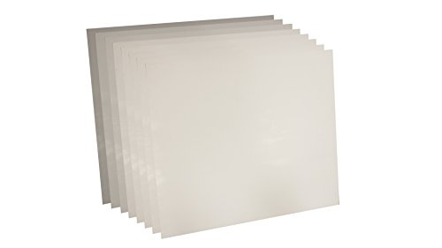 Sterling Seal 7530.031236x36x8 White Virgin Teflon 7530 Sheet, 1/32'' Thick, 36'' x 36'' (Pack of 8) by Sterling Seal & Supply