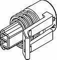 Automotive Connectors 2P FM BLK CON ASSY 150.2 SERIES (50 pieces)