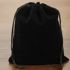 Black Velvet Urn Cremation Bag With A Drawstring Closure Accessory Sets - 75 Cubic Inches Capacity Bath (Blue Glitter Cross Candle)