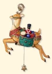 Hallmark Keepsake Yuletide Treasures #2 Reindeer Ornament with Motion ()