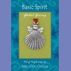 Handmade Pewter Ornament -Shell Angel by Basic Spirit