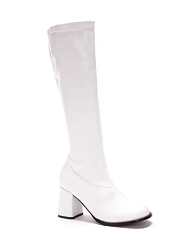 Women's Shoes 3 Inch Gogo Boots with Zipper (White;7)