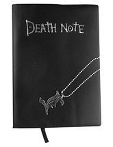 Price comparison product image Death Note Notebook Cosplay Book & Metal L Necklace Set