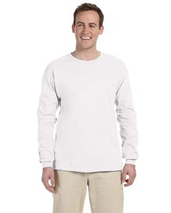 Fruit of the Loom Adult 5 Oz HD Cotton Long-Sleeve T-Shirt - White - S - (Style # 4930 - Original Label)