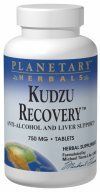 Planetary Herbals Kudzu Recovery 750mg - With Calcium - 120 Tablets