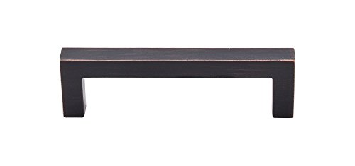 Top Knobs M1834 Nouveau III Collection 3-3/4 Square Bar Pull, Tuscan Bronze