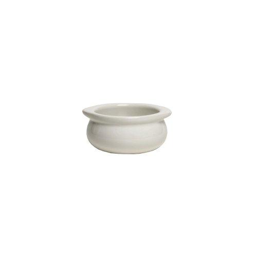 Onion Soup White - Tuxton BWS-1203 Vitrified China Onion Soup Crock, 12 oz, White (Pack of 12),