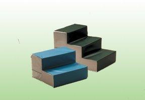 Fab Enterprises 3-Step Stairs, Large, Foam, 32''L X 22''W X 21''H