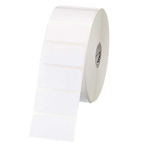 Zebra - 2 x 1 in Direct Thermal Paper labels, Z-Perform 2000D Permanent Adhesive Shipping labels, Zebra Desktop Printer Compatible, 1 in Core - 6 rolls - 10031634SP