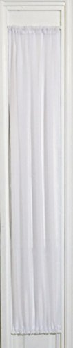 WHITE SHEER SIDELIGHT CURTAIN 29″ WIDE 63″ LENGHT ROD POCKET TOP AND BOTTOM