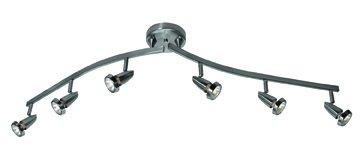 Mirage - 6-Light Spotlight Semi-Flush Mount - Brushed Steel Finish -