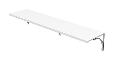 - ClosetMaid 1422 Premium Wood Solid Shelf Kit, 6-Foot X 16-Inch, White