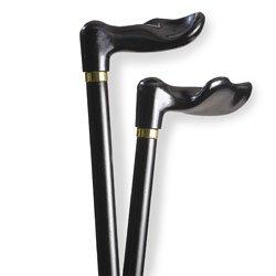 Alex Toys Wood Cane With Black Palm Grip Handle Left - Bl...