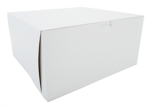 Corner Non Window Lock (Southern Champion Tray 0989 Premium Clay-Coated Kraft Paperboard White Non-Window Lock Corner Bakery Box, 12