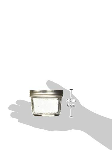 Kerr Wide Mouth Half-Pint Glass Mason Jars 8-Ounces with Lids and Bands 12-Count per Case (1-Case) by Kerr (Image #2)