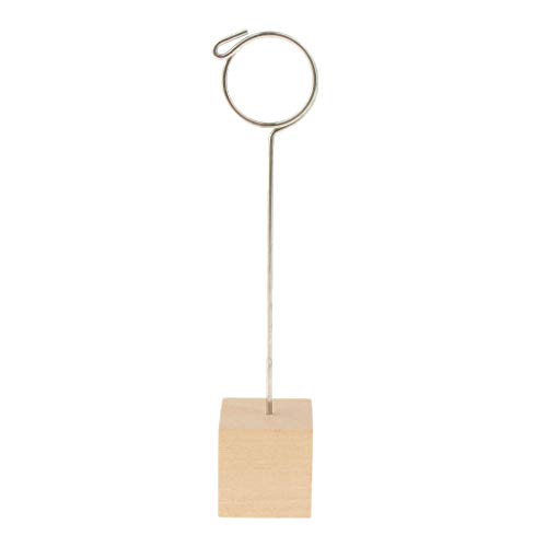 - BROSCO Table Number Place Card Photo Holder Wooden Base Wedding Party Favor Clips