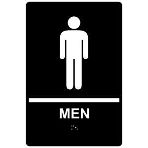 Mens Restroom Sign 6 x 8.