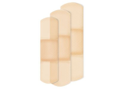 American White Cross 80 Adhesive Bandages, Sheer, Sterile Assorted (White Sterile Bandages)