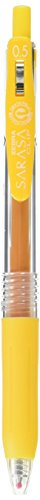 Zebra Sarasa Clip Pen 0.5, Yellow (JJ15-Y)