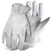 Boss 4060 Ladies Goatskin w/Padded Palm Gloves, White, Large ()