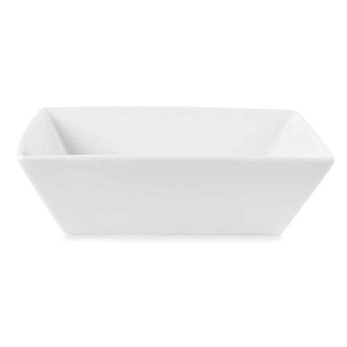 Classic Square Porcelain Bowl - Fitz and Floyd Everyday White Porcelain Square Vegetable Bowl, Classic And Functional Dinnerware