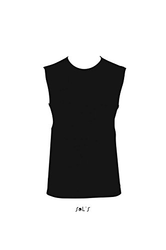 Sols - Jazzy - Herren T-Shirt Ärmellos , Deep black , M M,Deep Black