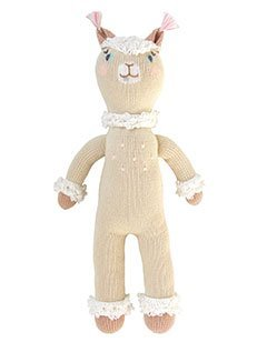 (Blabla Picchu The Alpaca Plush Doll - Knit Stuffed Animal for Kids. Cute, Cuddly & Soft Cotton Toy. Perfect, Forever Cherished. Eco-Friendly. Certified Safe & Non-Toxic.)