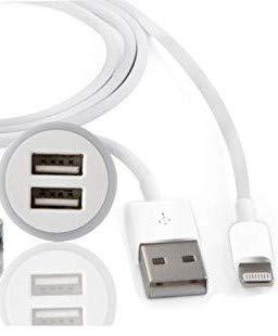 techstore Cargador Coche a 2 Puertos, Cargador USB Universal 2 en ...