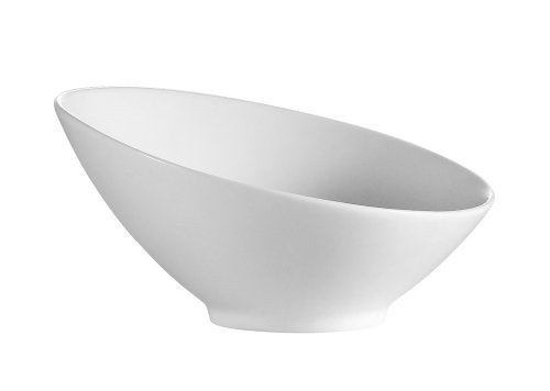 CAC China SHER-B10 Sheer  10-Inch 36-Ounce Bone White Porcelain Salad Bowl, Box of 12