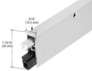 CRL Aluminum Commercial Medium-Duty Automatic Door Bottom for 36'' Door - DB035CV36