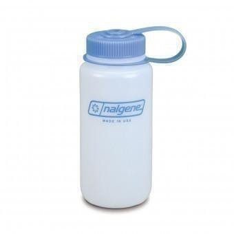 Nalgene 16 ounce reusable water bottle, HDPE, in wide mouth
