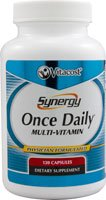 Synergy Once Daily(R) Multi-Vitamin - High-potency multi-vitamin with 21 essential vitamins and minerals with powerful antioxidants such as green tea resveratrol CoQ10 and more - 120 Capsules