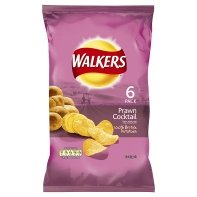 Foods Cocktail (Walkers Prawn Cocktail Crisps 6 Pack 150g)