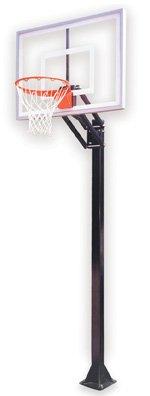 最初チームChamp ii-bp steel-acrylic in ground調整可能バスケットボールsystem44、ブラック B01HC0CLB6