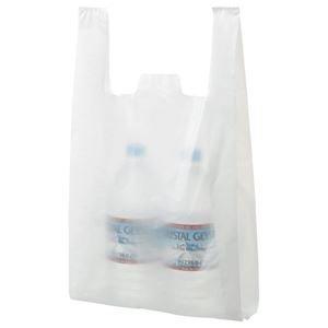 (まとめ) TANOSEE 乳白レジ袋 30号 ヨコ265×タテ480×マチ幅130mm 1パック(100枚) 【×20セット】 B07PGCQGYG