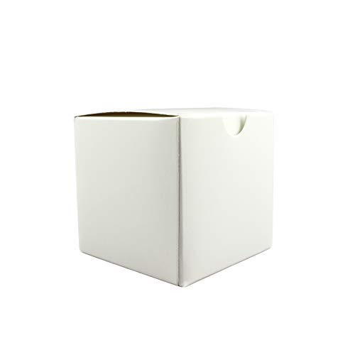 Tytroy 3 x 3 x 3 Inch White Gift Boxes Paper Crafting Boxes with Lids for Party Favors (50pcs)
