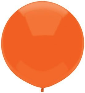 17'' Bright Orange Outdoor Latex Balloons - Pack of 5 by Single Source Party Supplies