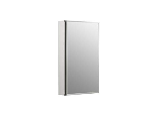 Kohler K-Cb-Clc1526Fs Frameless 15 Inch X 26 Inch Aluminum Bathroom Medicine Cabinet; ; Recess Or Surface Mount