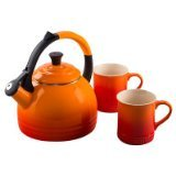 Le Creuset Enamel-On-Steel Kettle and Mug Gift Set, Flame