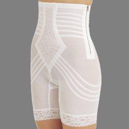 Rago Shapewear High-Waist Long Leg Pantie Girdle Style 6201 - White - XLarge