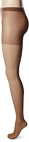Hosiery Sheer Taupe - Hanes Women's Non Control Top Sandalfoot Silk Reflections Panty Hose, Town Taupe, A/B