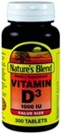 Cheap Nature's Blend Vitamin D3 1000 IU 300 Tablets